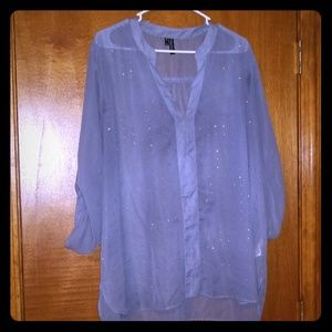 Gray blouse with sequins